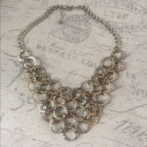 Gold circles statement necklace
